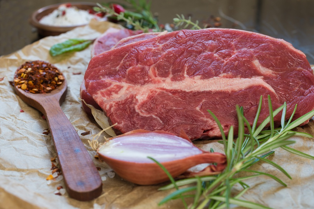 Beef Steak with Ingredients
